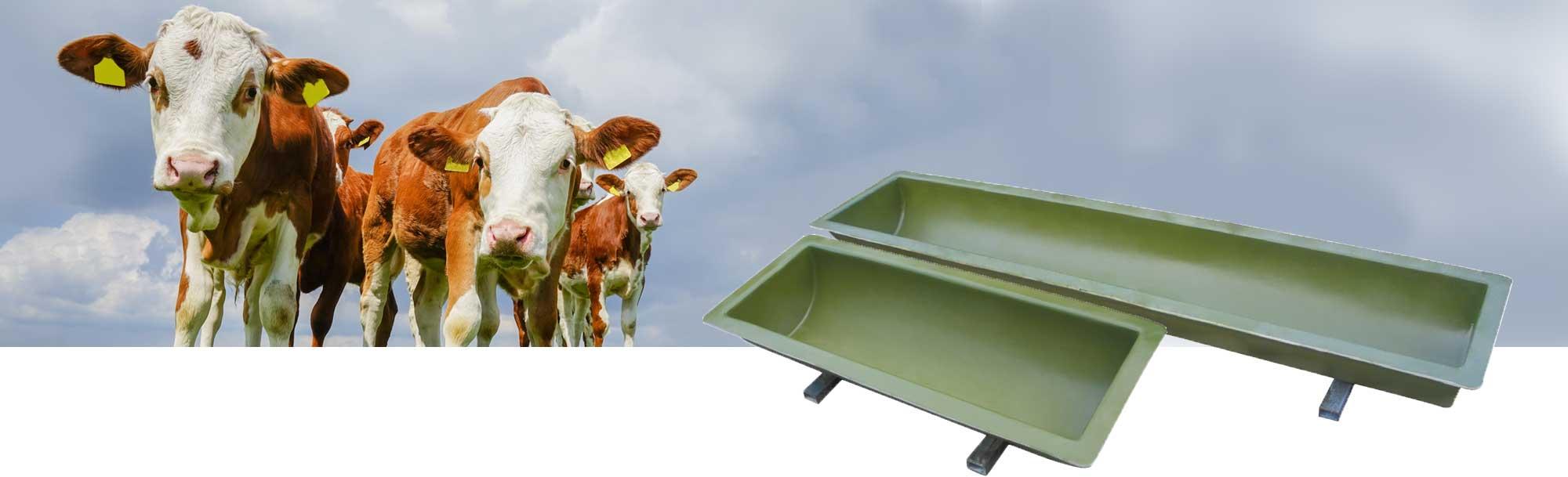Futtertröge füer die Landwirtschaft
